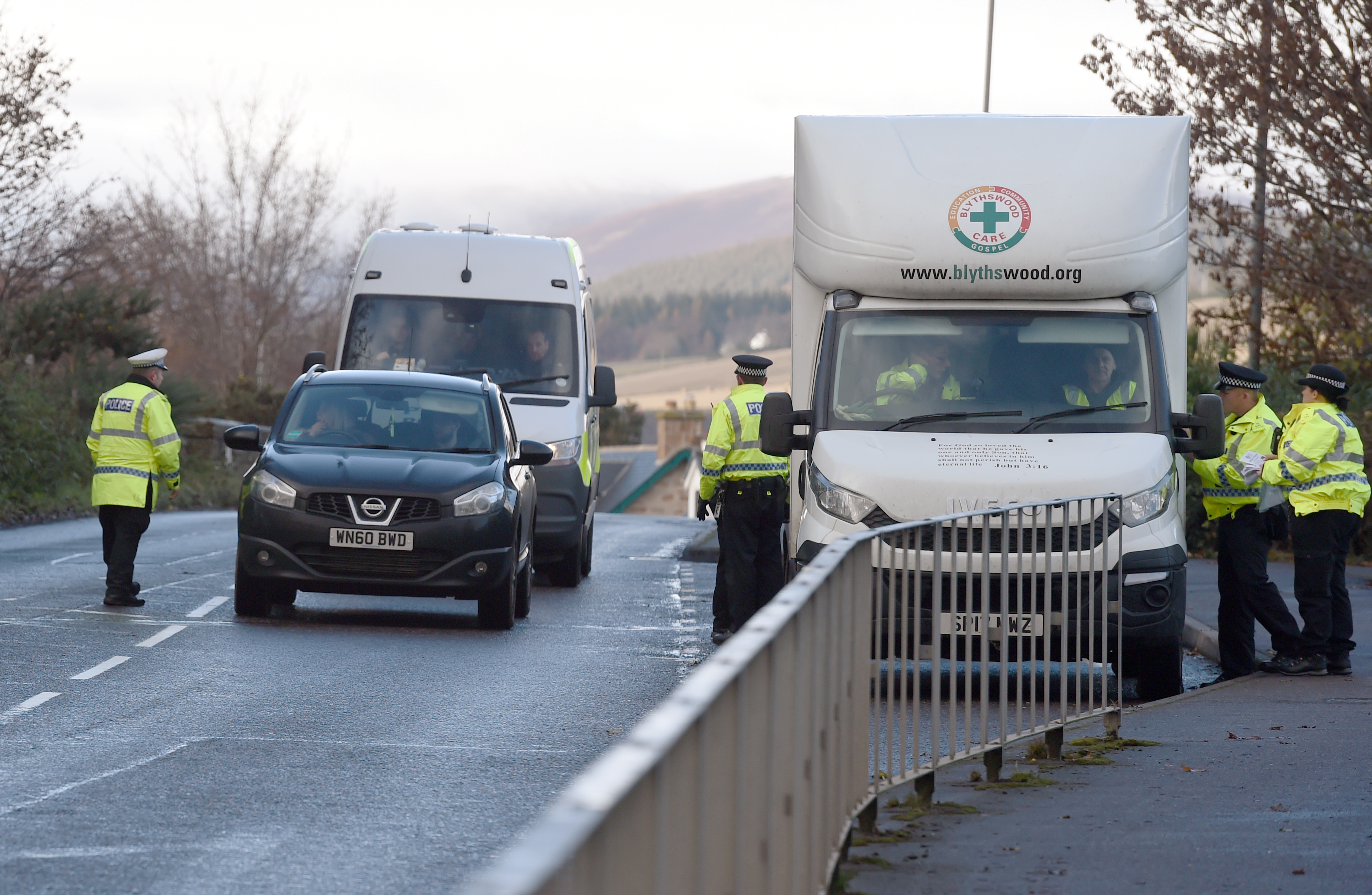 Police carried out roadchecks in Alness as part of their search for Calum Mackenzie. Pictures by Sandy McCook