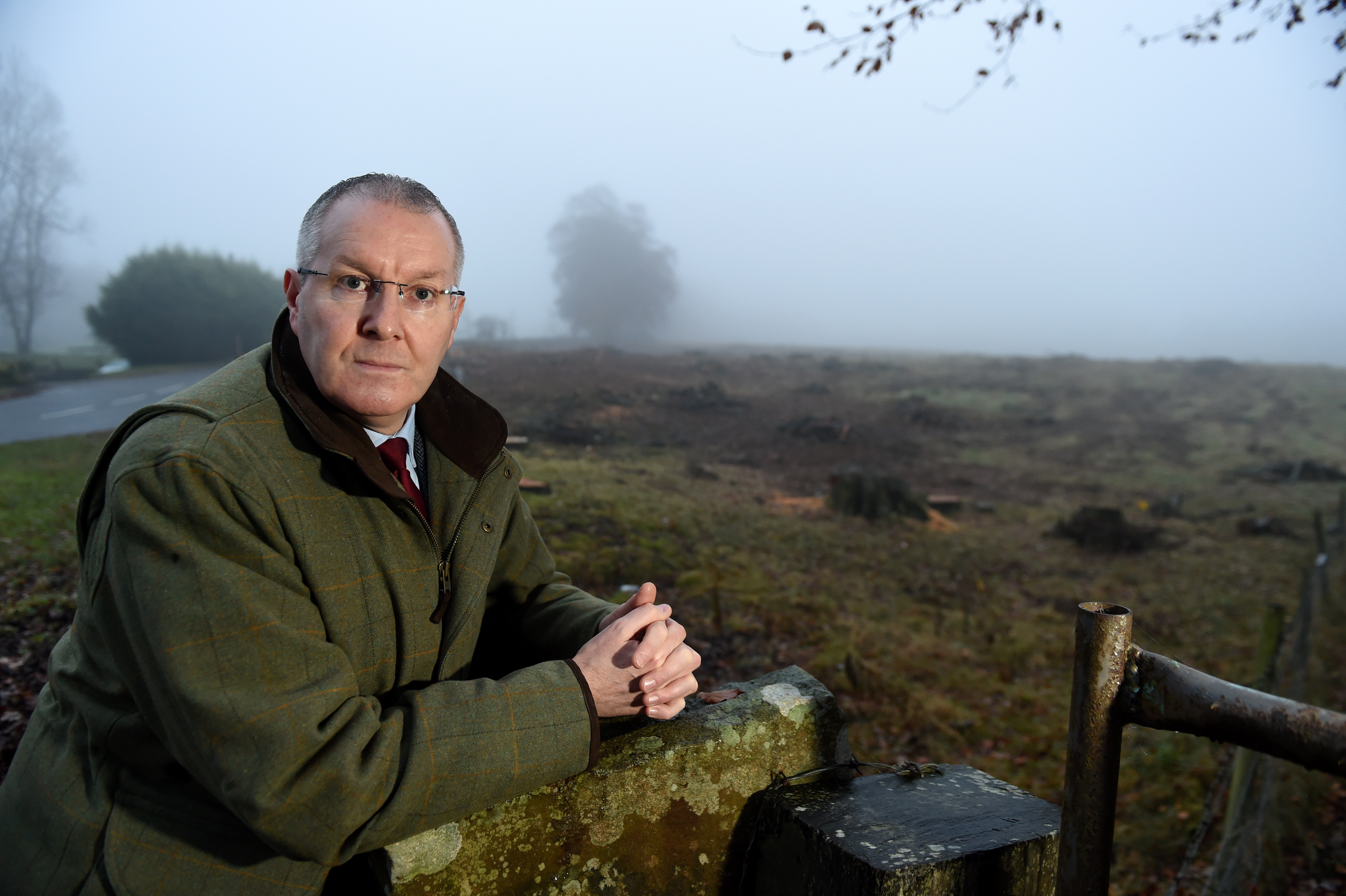 Councillor Duncan Macpherson concerned over the number of trees felled for a housing development off Drumossie Road.