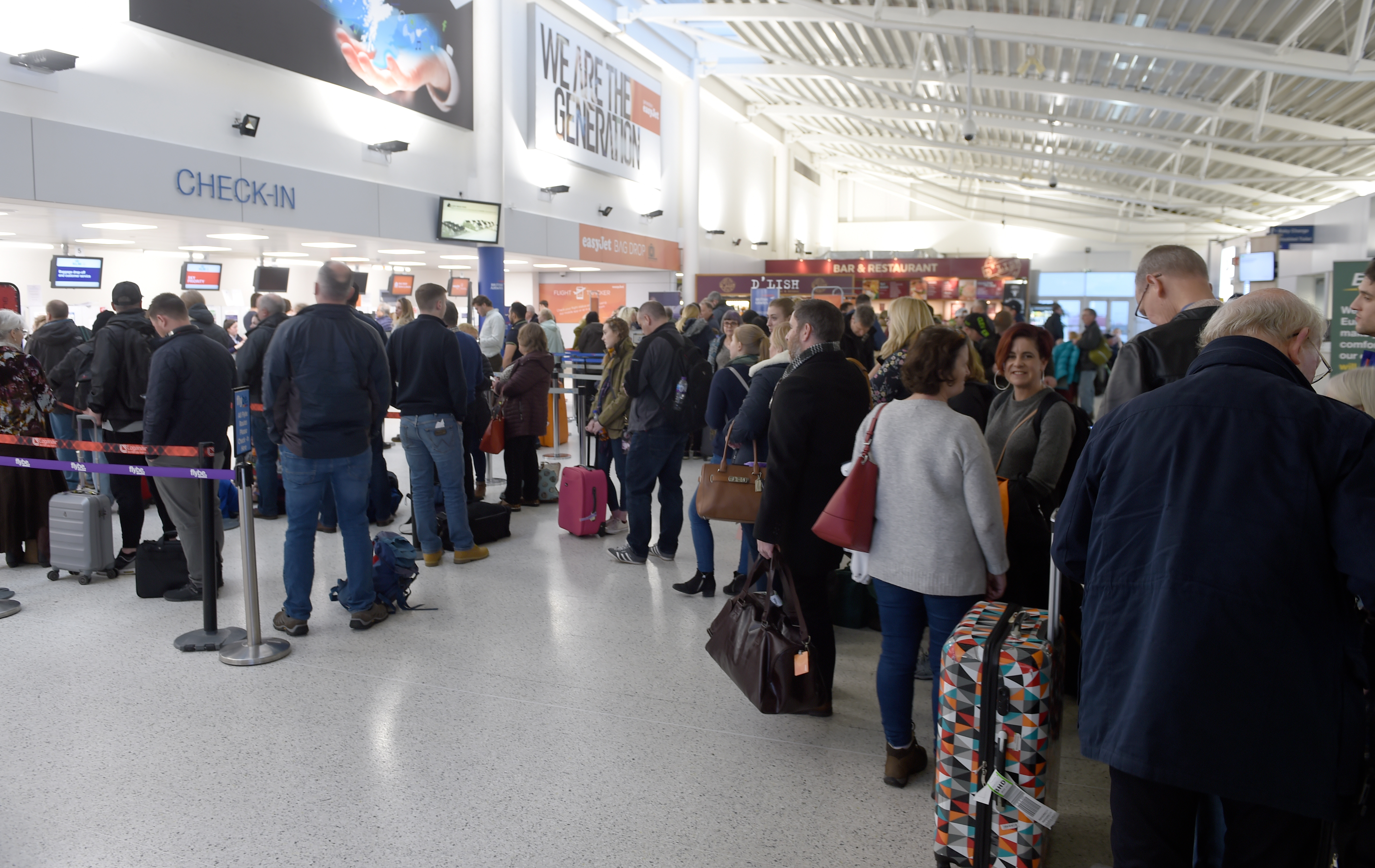 Inverness Airort was badly affected by fog yesterday afternoon with many flights cancelled or delayed.