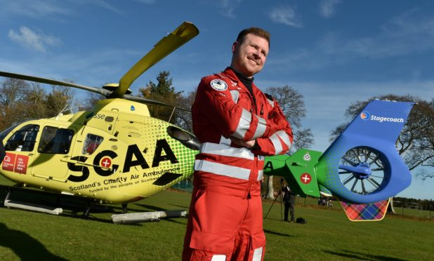 Richard Forte was working as a reservist with SCAA when the charity flew into Hazlehead Park to announce it would base its second aircraft in Aberdeen.