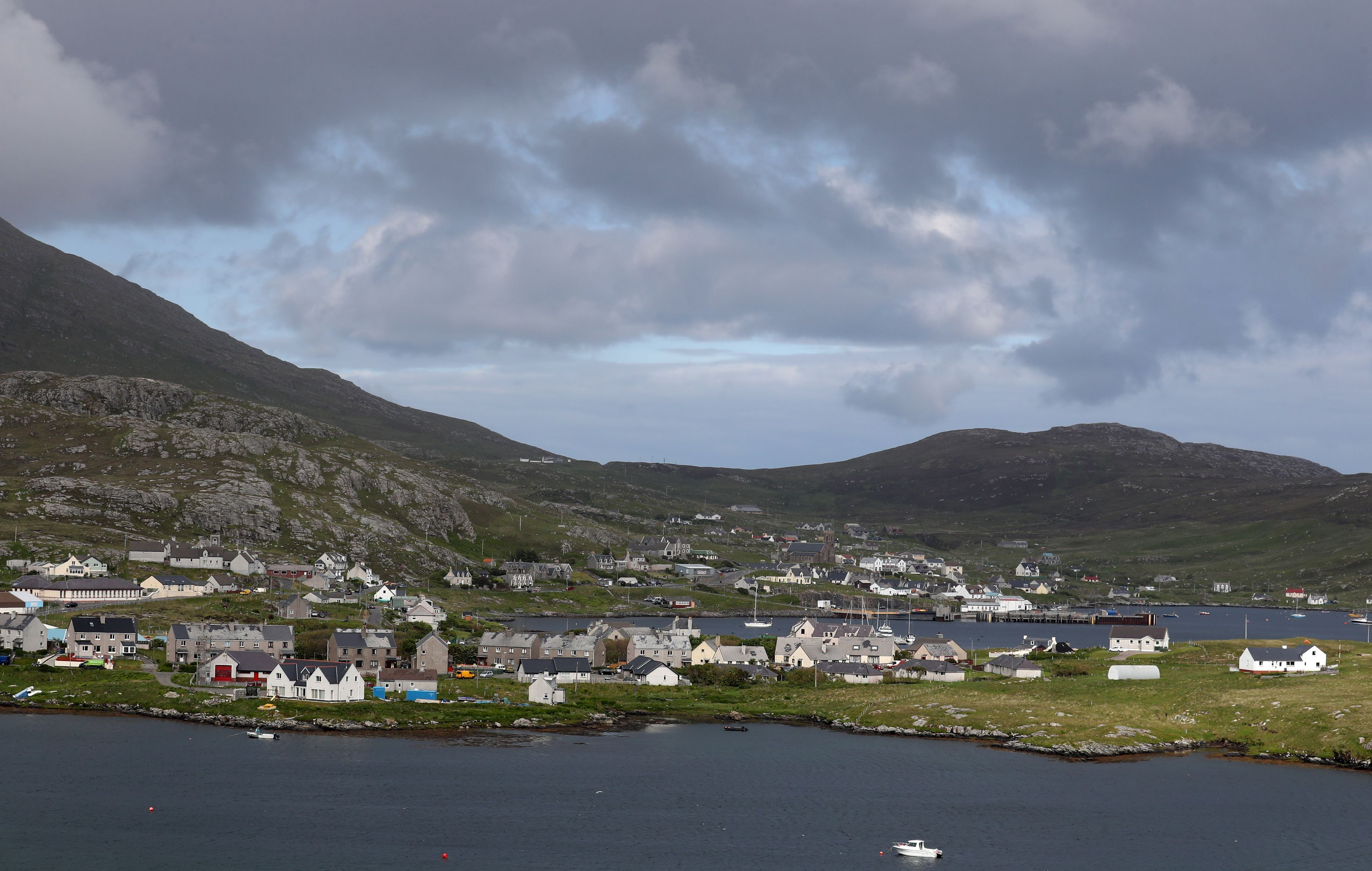 A general view of Castlebay in Barra