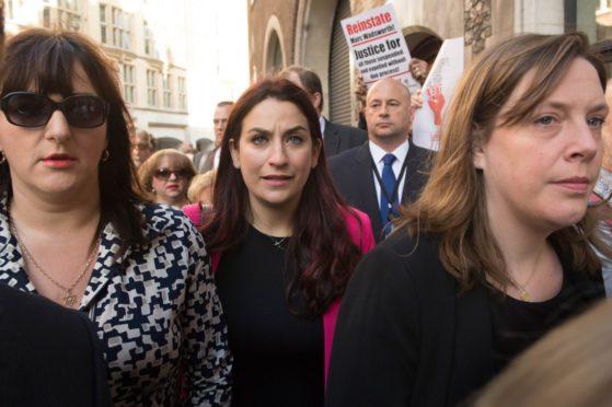 Labour MP Luciana Berger (centre)