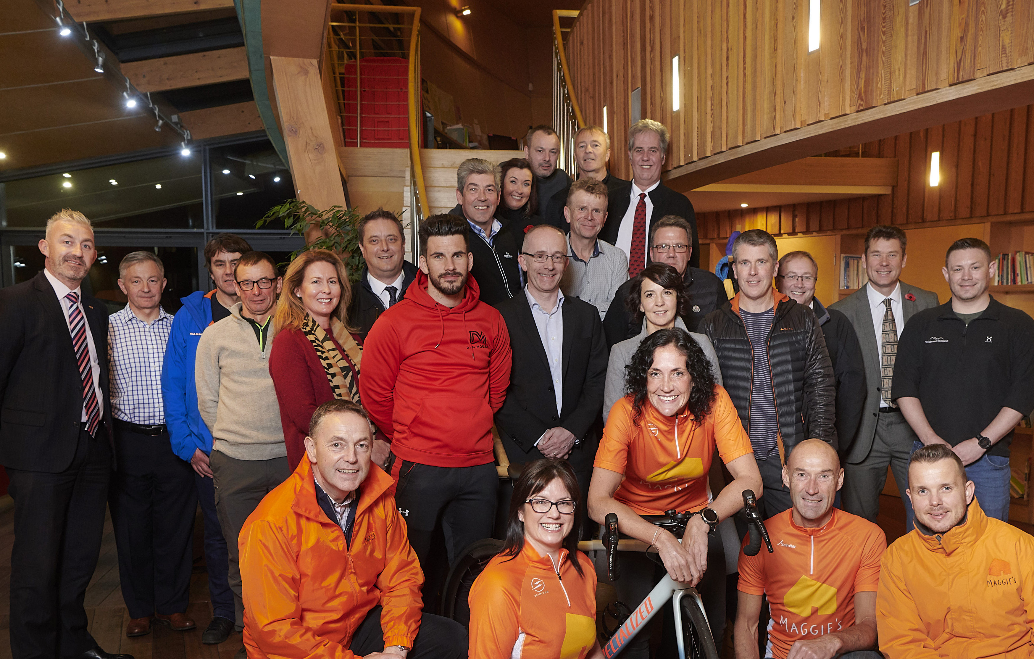 Local business owners pledge their support for charity cycle in aid of Maggie's Highlands.