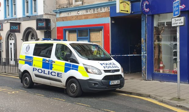Lanes were sealed off by police following the incident.