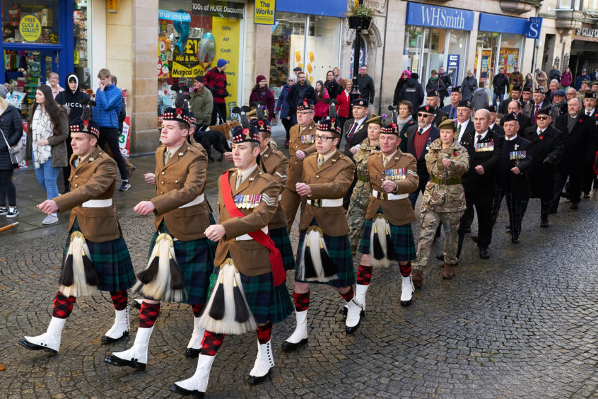 Remembrance Parade in Elgin