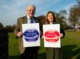 RSABI chairman Ewan Pate with the charity's chief executive, Nina Clancy.