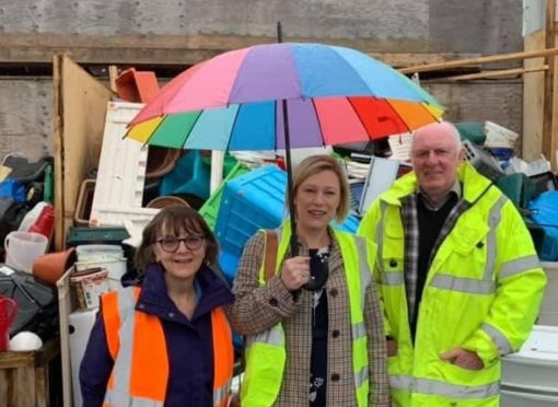 Gillian Martin on a recent visit to Wood RecyclAbility