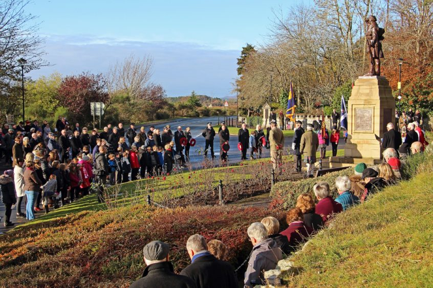 The Remembrance Parade in Dornoch. Picture by D Richardson
