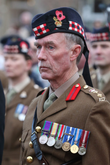 Remembrance Sunday service in Inverness.