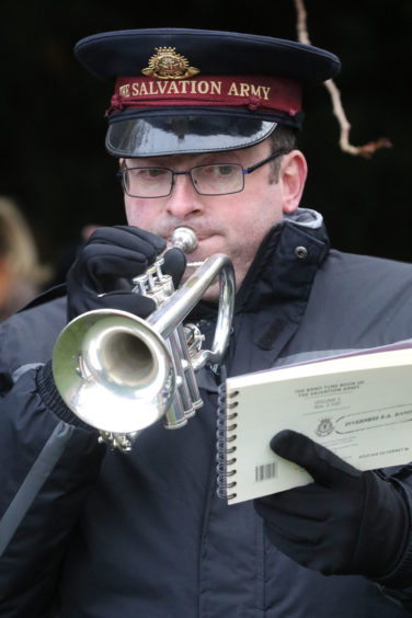 Cornet player Kevin Waddington from the Salvation Army played The Last Post.
