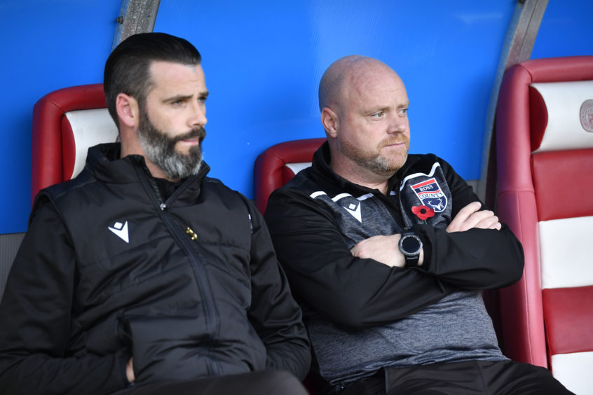 Ross County co-managers Stuart Kettlewell  and Steven Ferguson.