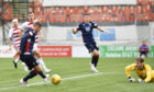 Ross County's Billy McKay scores the opening goal during the Ladbrokes Premiership match between Hamilton and Ross County.