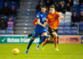 Dundee Utd's Louis Appere, right, and Charlie Trafford in action during the Ladbrokes Championship match between Inverness CT and Dundee United at the Caledonian Stadium, on November 2.