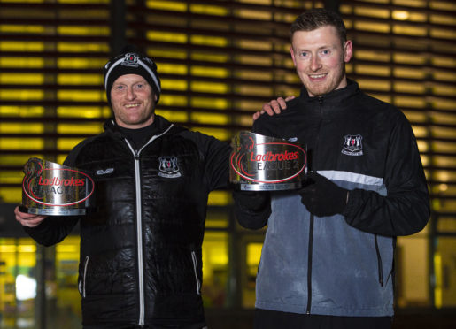 Elgin City manager Gavin Price and Shane Sutherland received the Ladbrokes League 2 Manager and Player of the Month Awards for October 2019.