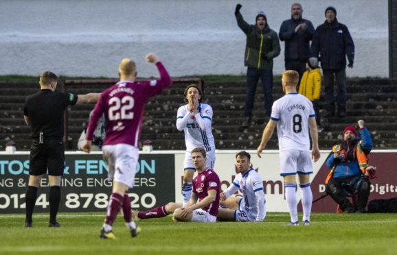 The Caley Jags were beaten 3-0 at Arbroath last month.