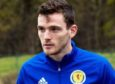 Scotland's Andy Robertson during a training session