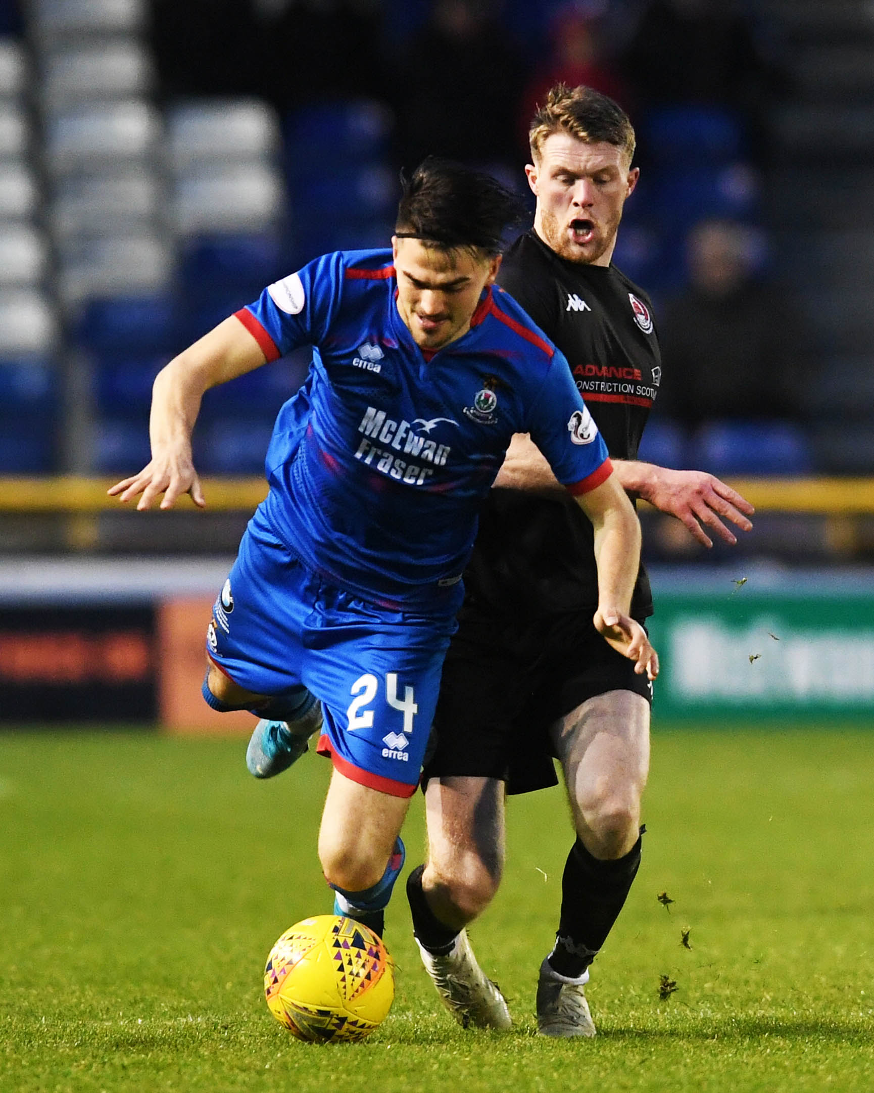 Caley Thistle's Charlie Trafford.