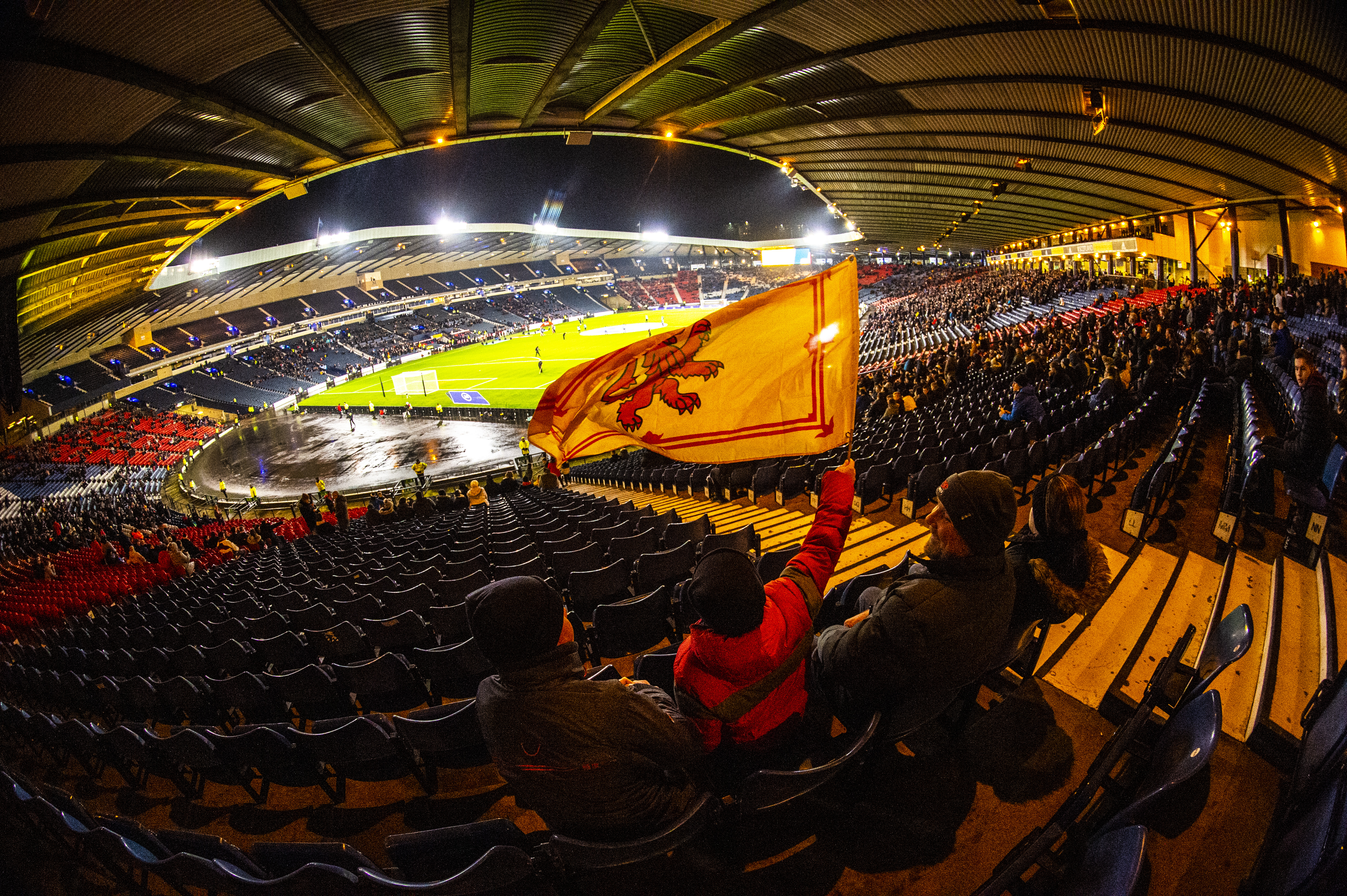 Hampden before a Scotland game.