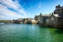 The shore of Lerwick on a beautiful sunny day