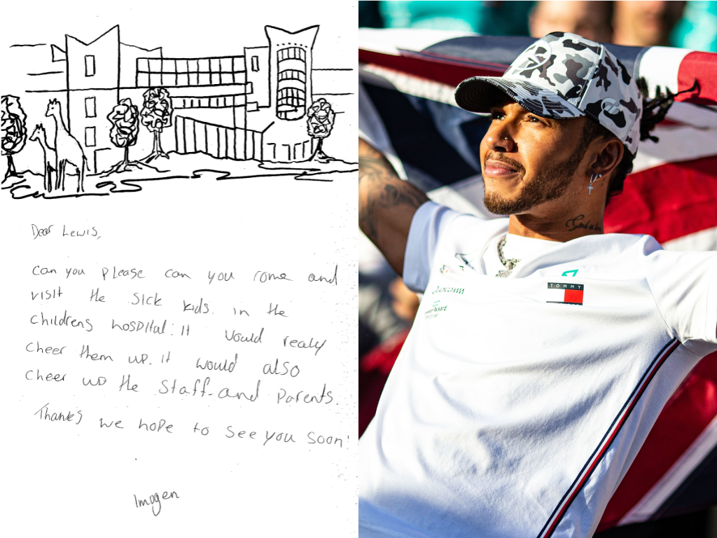 A patient letter to Lewis Hamilton, left, and the sport star right