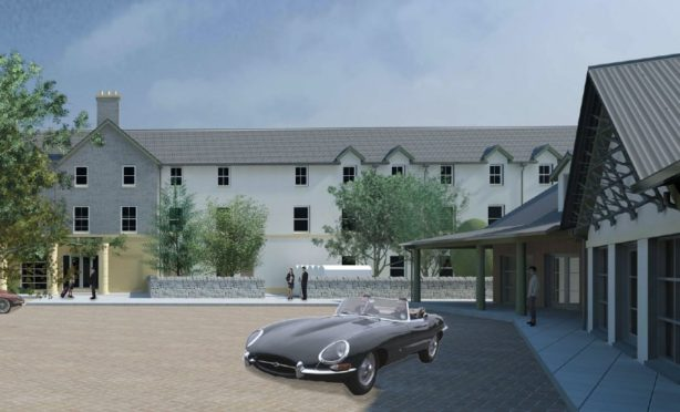 Artists impression of the Tomatin Trading Company proposals