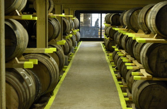 Society Drinks Feature Glen Garioch Distillery, Distillery Rd, Oldmeldrum Pictured are some of the whiskey barrels. Picture by DARRELL BENNS     Pictured on 20/07/2018