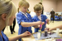 Children learn about nursing as a future career