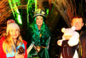 Sarah Jane Hughes and Mark Lockhart take their daughter Ferne to Fairy Queen Dorothy Simpson at the Oban Winter Festival