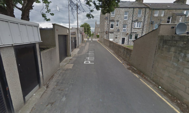 The incident happened in Pittodrie Lane.