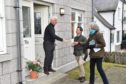 Theresa May and Andrew Bowie were campaigning in Ballater ahead of the election.  Picture by COLIN RENNIE