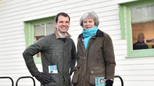 Theresa May and Andrew Bowie w