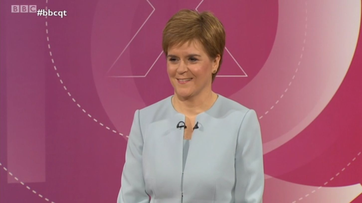 Nicola Sturgeon on BBC leaders' debate