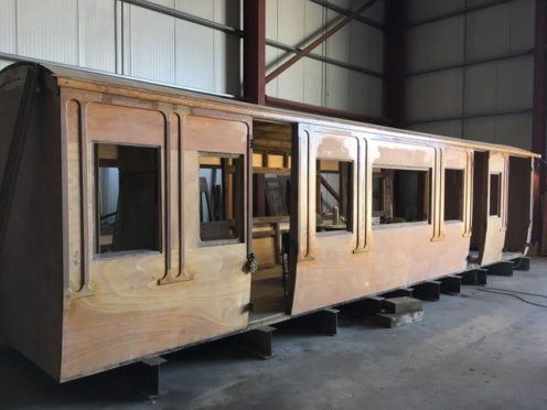 "The 1894 former London and North Western Railway ""Picking Saloon"" gets a new roof"