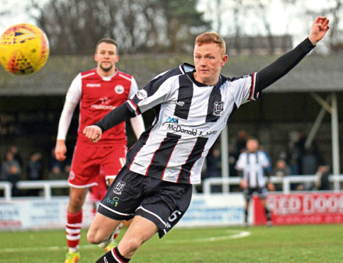 Russell Dingwall has impressed in front of goal for Elgin.