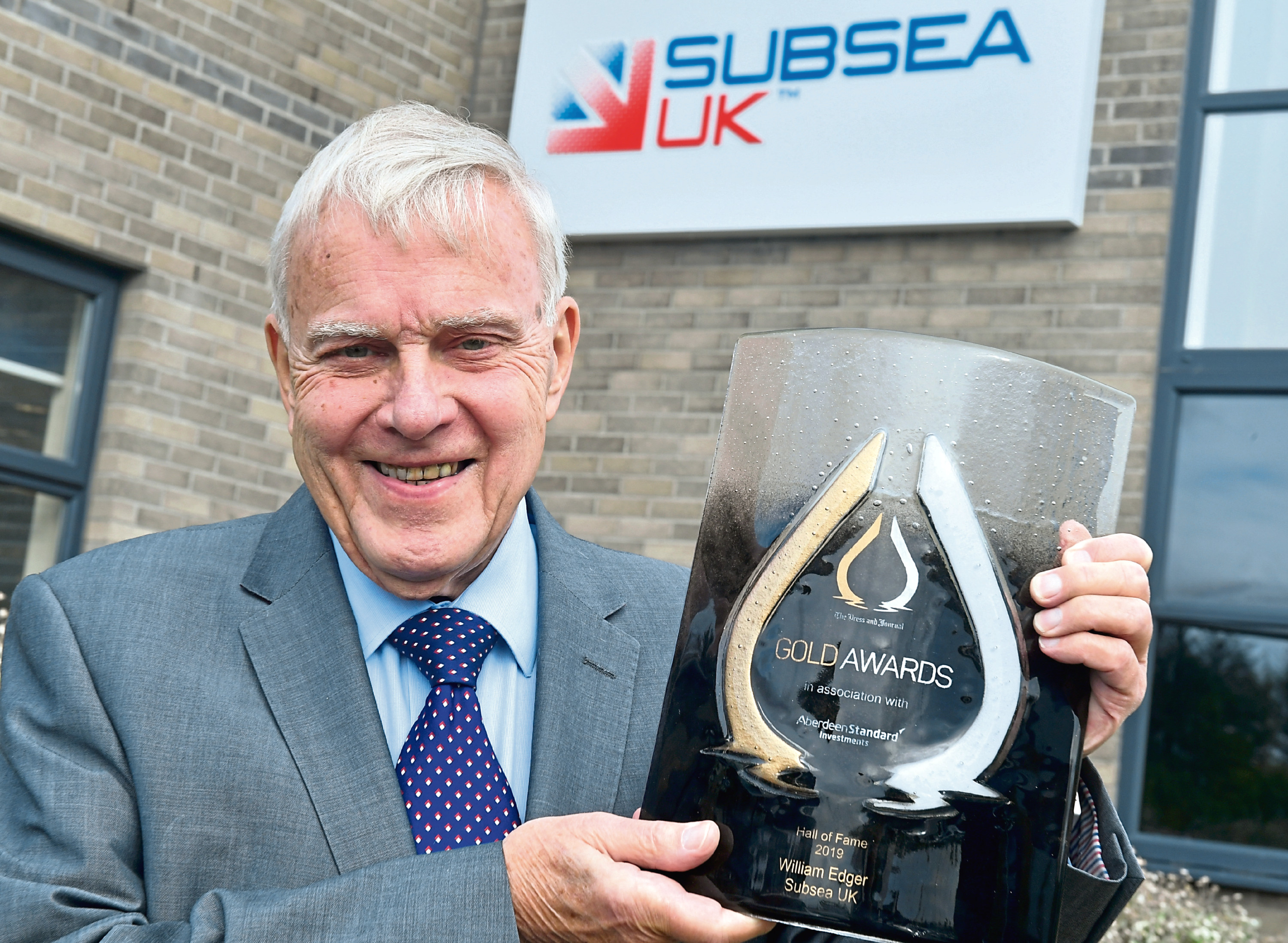 Hall of Fame Gold Awards winner, William Edgar, Chairman of Subsea Uk pictured with is award. CR0014218 Pic by Chris Sumner Taken 17/9/19