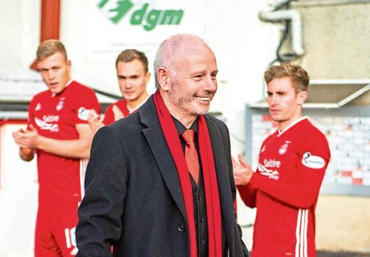 Outgoing Aberdeen chairman Stewart Milne