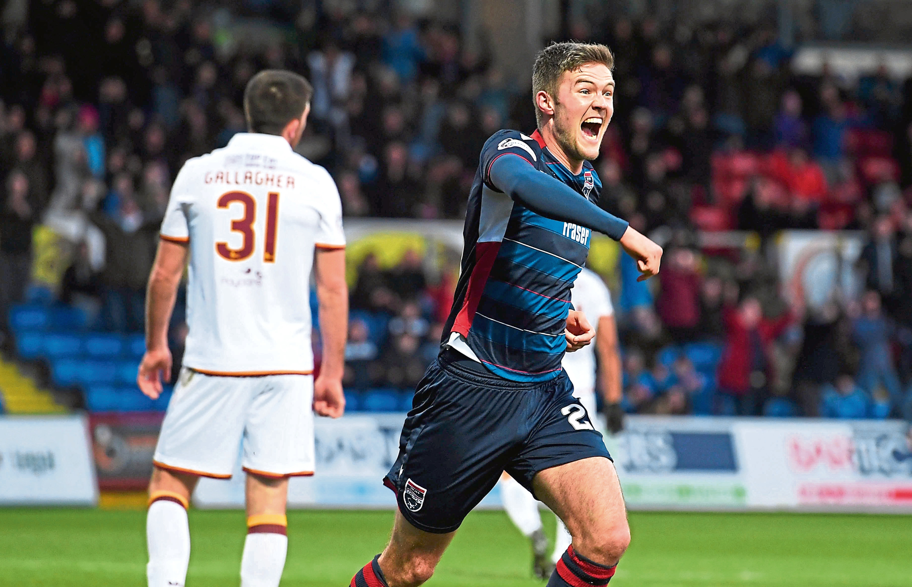 Ross County's Blair Spittal.