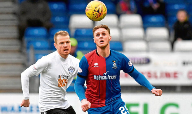 Inverness CT's Kevin McHattie in action.