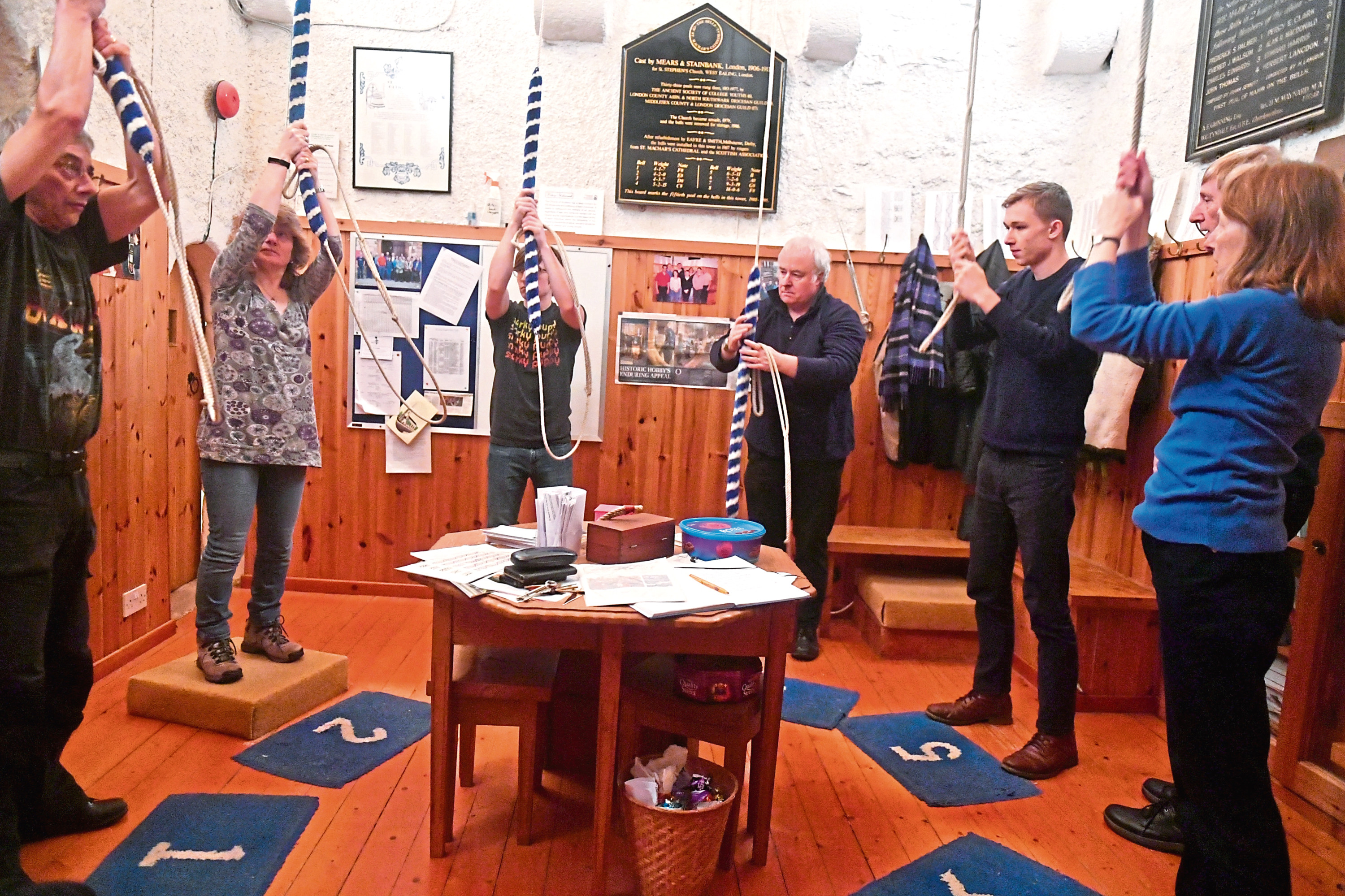 Bell ringing at St Machar Cathedral.  Picture by Chris Sumner.