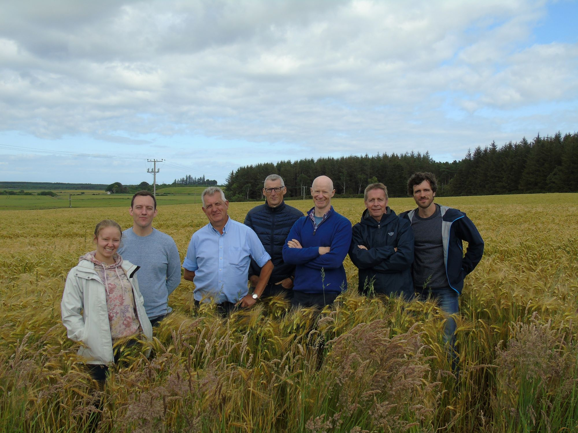Windswept, members of the Moray Leader local action group and Belgian representatives at Pitgaveny Farm.