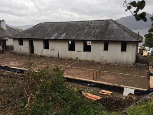 Knoydart Village Hall is undergoing a £400,000 transformation.