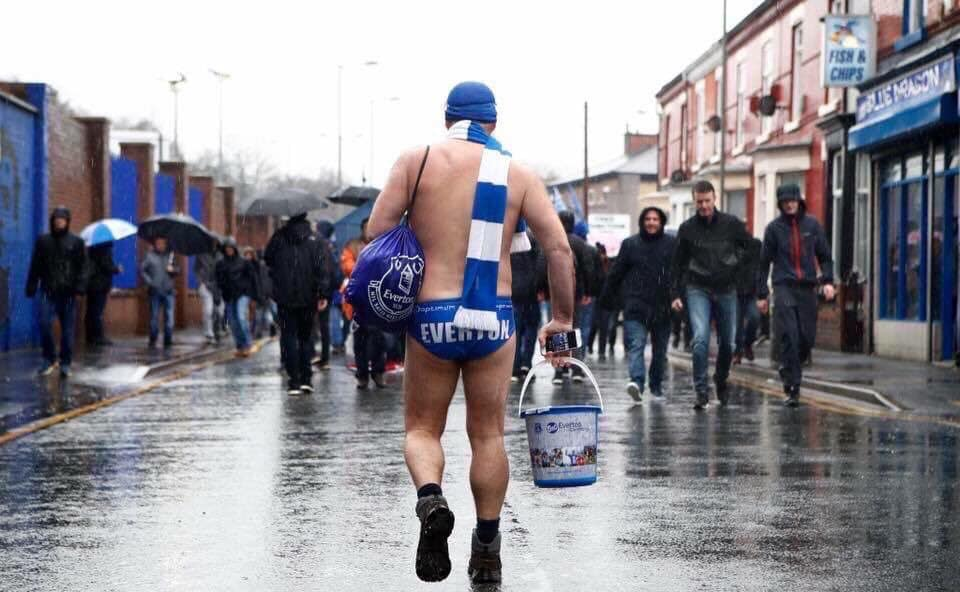 Scouser Michael Cullen, better known as Speedo Mick, is walking John O'Groats to Lands End in aid of disadvantaged youths.