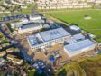 An aerial view of construction at Lossiemouth High School. Picture: Hub North Scotland.