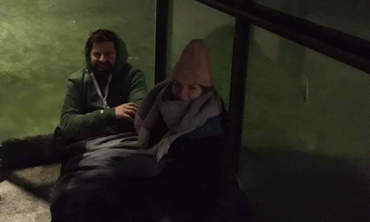 Sarah Jane Reid and her partner Gordy MacDonald braved the chill in sub-zero temperatures to aid the homeless this Christmas