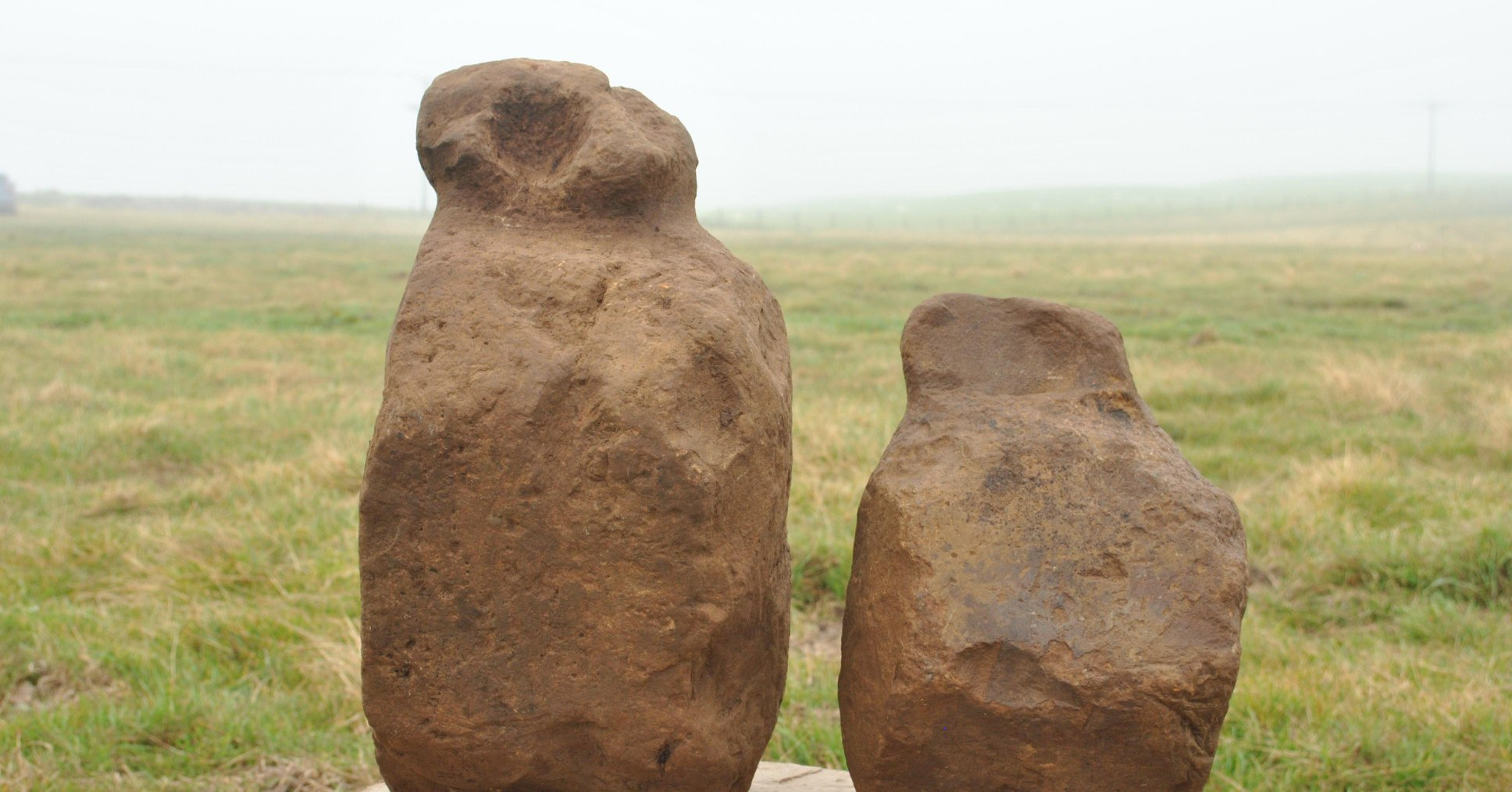 The ORCA Archaeology team discovered nine possible Bronze Age figurines with some over half-metre tall.