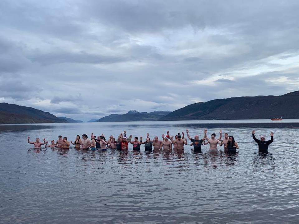 Residents participated in the Loch Ness Dip on Boxing Day in aid of Blythswood Care.