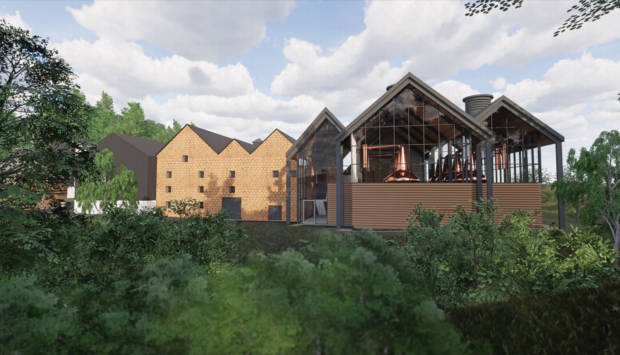 Artist impression of the Aberlour Distillery project.