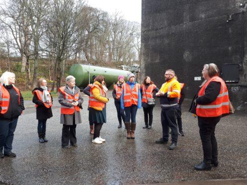 Banffshire Coast Learning Journey outside Macduff Distillery