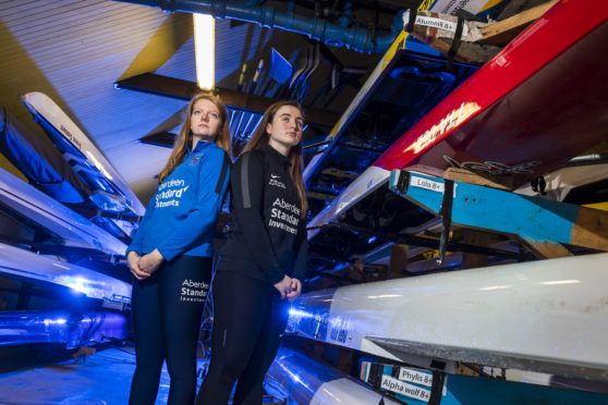 Katie Sugden, left, president of Aberdeen University Boat Club, has accepted the challenge from Lizzie Buchan, president of Robert Gordon University Boat Club.