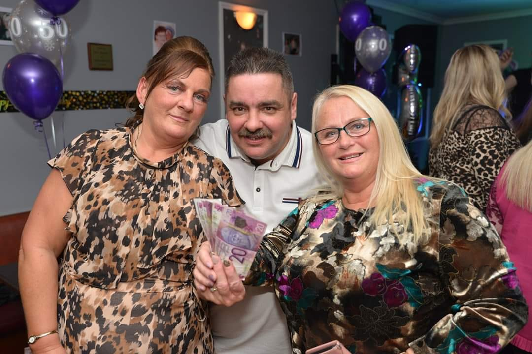 Founder of Buchan Giving Tree Shona Watson (right) with friends Richard and Caroline Best.